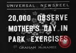 Image of Mother's Day New York United States USA, 1936, second 3 stock footage video 65675051379