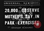Image of Mother's Day New York United States USA, 1936, second 4 stock footage video 65675051379
