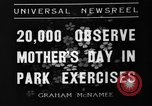 Image of Mother's Day New York United States USA, 1936, second 7 stock footage video 65675051379