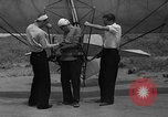 Image of early hang glider flight attempt Palos Verdes California USA, 1936, second 5 stock footage video 65675051384