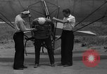 Image of early hang glider flight attempt Palos Verdes California USA, 1936, second 6 stock footage video 65675051384