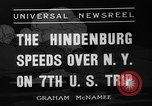 Image of Hindenburg airship New York United States USA, 1936, second 6 stock footage video 65675051386