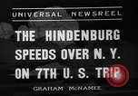 Image of Hindenburg airship New York United States USA, 1936, second 7 stock footage video 65675051386