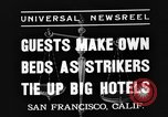 Image of hotel staff San Francisco California USA, 1937, second 2 stock footage video 65675051401