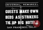 Image of hotel staff San Francisco California USA, 1937, second 3 stock footage video 65675051401
