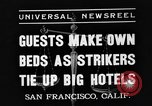 Image of hotel staff San Francisco California USA, 1937, second 5 stock footage video 65675051401