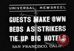Image of hotel staff San Francisco California USA, 1937, second 8 stock footage video 65675051401