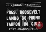Image of President Roosevelt Port Arkansas Texas USA, 1937, second 2 stock footage video 65675051402