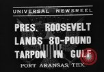 Image of President Roosevelt Port Arkansas Texas USA, 1937, second 5 stock footage video 65675051402
