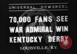 Image of Kentucky Derby Louisville Kentucky USA, 1937, second 1 stock footage video 65675051404