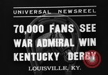 Image of Kentucky Derby Louisville Kentucky USA, 1937, second 3 stock footage video 65675051404