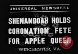 Image of Shenandoah Apple Blossom Festival Winchester Virginia USA, 1937, second 9 stock footage video 65675051405