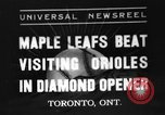 Image of Opening day double-A International Baseball League Toronto Ontario Canada, 1937, second 1 stock footage video 65675051406
