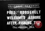 Image of President Roosevelt Galveston Texas USA, 1937, second 1 stock footage video 65675051408