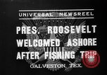 Image of President Roosevelt Galveston Texas USA, 1937, second 4 stock footage video 65675051408