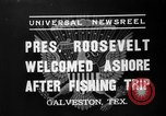 Image of President Roosevelt Galveston Texas USA, 1937, second 5 stock footage video 65675051408