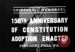 Image of 150th anniversary Philadelphia Pennsylvania USA, 1937, second 2 stock footage video 65675051410