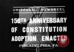 Image of 150th anniversary Philadelphia Pennsylvania USA, 1937, second 6 stock footage video 65675051410