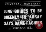Image of fashion show Chicago Illinois USA, 1937, second 1 stock footage video 65675051413