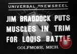Image of Jim Braddock vs. Joe Louis Golfmore Michigan USA, 1937, second 1 stock footage video 65675051414