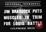 Image of Jim Braddock vs. Joe Louis Golfmore Michigan USA, 1937, second 5 stock footage video 65675051414