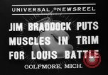 Image of Jim Braddock vs. Joe Louis Golfmore Michigan USA, 1937, second 6 stock footage video 65675051414