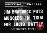 Image of Jim Braddock vs. Joe Louis Golfmore Michigan USA, 1937, second 9 stock footage video 65675051414