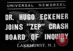 Image of Hugo Eckener Lakehurst Naval Air Station New Jersey USA, 1937, second 1 stock footage video 65675051416
