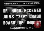 Image of Hugo Eckener Lakehurst Naval Air Station New Jersey USA, 1937, second 5 stock footage video 65675051416
