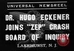 Image of Hugo Eckener Lakehurst Naval Air Station New Jersey USA, 1937, second 8 stock footage video 65675051416