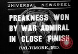 Image of War Admiral winning the Preakness stakes Baltimore Maryland USA, 1937, second 1 stock footage video 65675051417