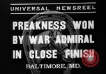 Image of War Admiral winning the Preakness stakes Baltimore Maryland USA, 1937, second 8 stock footage video 65675051417