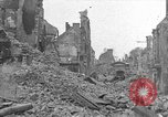 Image of damaged buildings Cherbourg Normandy France, 1944, second 1 stock footage video 65675051434