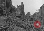 Image of damaged buildings Cherbourg Normandy France, 1944, second 4 stock footage video 65675051434