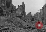Image of damaged buildings Cherbourg Normandy France, 1944, second 5 stock footage video 65675051434