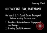 Image of United States Coast Guard Chesapeake Bay Maryland USA, 1944, second 9 stock footage video 65675051446