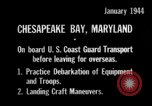 Image of United States Coast Guard Chesapeake Bay Maryland USA, 1944, second 11 stock footage video 65675051446