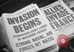 Image of D-Day headlines in New York New York City USA, 1944, second 9 stock footage video 65675051457