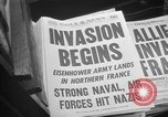 Image of D-Day headlines in New York New York City USA, 1944, second 10 stock footage video 65675051457