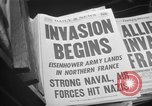 Image of D-Day headlines in New York New York City USA, 1944, second 11 stock footage video 65675051457