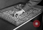 Image of preparation of dough nuts Uijongbu South Korea, 1954, second 6 stock footage video 65675051544