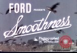 Image of Advertisement for smooth ride of 1939 Ford automobiles United States USA, 1939, second 2 stock footage video 65675051551