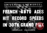 Image of Formula One Grand Prix France 1936 Montlhéry France, 1936, second 4 stock footage video 65675051557