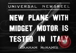 Image of Italian aircraft Rome Italy, 1936, second 1 stock footage video 65675051560