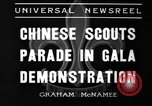 Image of Chinese scouts Shanghai China, 1936, second 2 stock footage video 65675051561