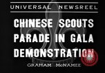 Image of Chinese scouts Shanghai China, 1936, second 4 stock footage video 65675051561