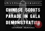 Image of Chinese scouts Shanghai China, 1936, second 7 stock footage video 65675051561