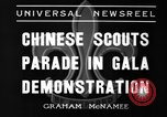Image of Chinese scouts Shanghai China, 1936, second 9 stock footage video 65675051561