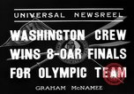 Image of University of Washington crew qualifies for 1936 olympics United States USA, 1936, second 3 stock footage video 65675051562