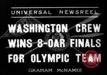 Image of University of Washington crew qualifies for 1936 olympics United States USA, 1936, second 7 stock footage video 65675051562